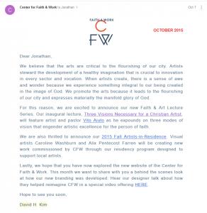 David Kim email October 7 2015